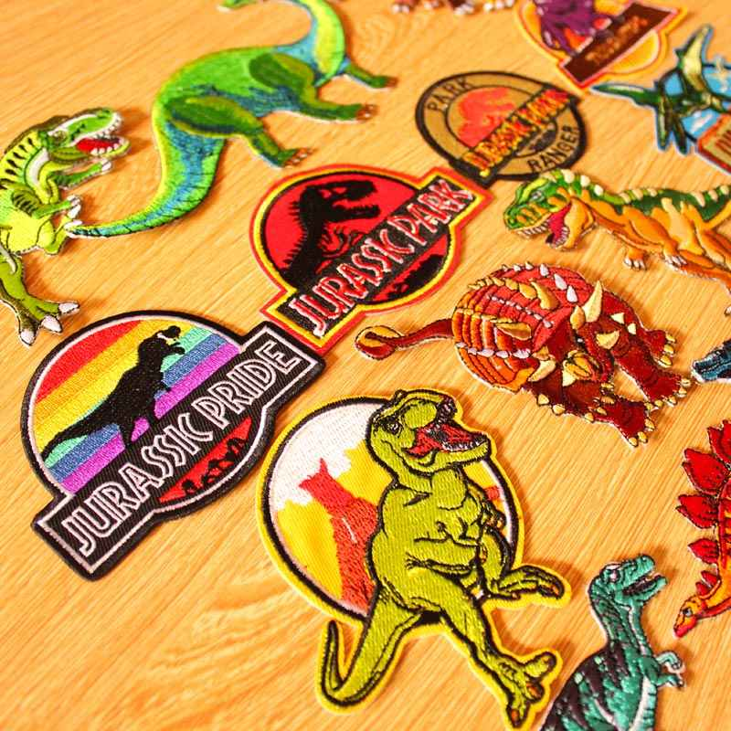 DIY Jurassic Park Patch Dinosaurus Patch Militaire Badges Iron-on Patches Voor Kleding Geborduurde Patches Applique Op Kleding DIY