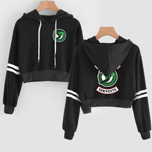 2019 Sping Riverdale Hooded Short loose hoodies printing Women's hip hop casual Harajuku long-sleeved Warm Hoodies(China)