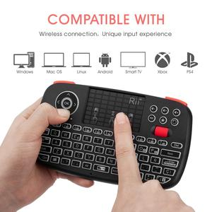 Image 5 - Rii i4 Spanish Mini Keyboard Bluetooth 2.4G Dual Modes Handheld Fingerboard Backlit Mouse Touchpad Remote Control for PC Android