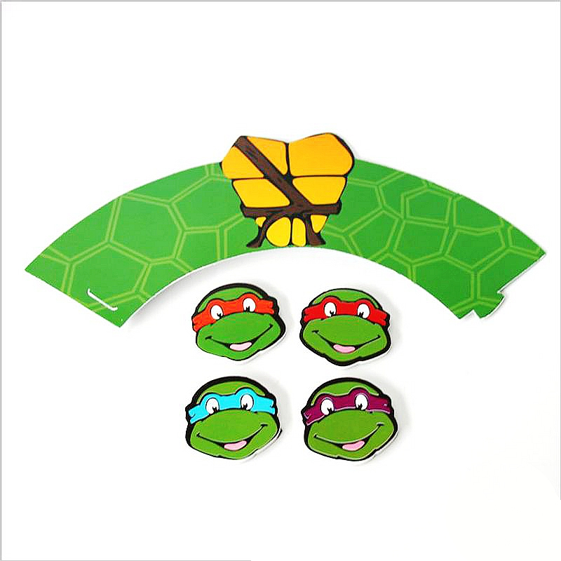 24pcspack Teenage Mutant Ninja Turtles Baby Shower Kids Favors Cake