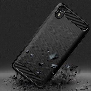 "Image 4 - For Xiaomi Redmi 7A Case Shockproof Brushed Carbon Fiber Soft Bumper Case Cover for Xiaomi Xiomi Redmi 7A 2019 5.45"" Phone Cases"