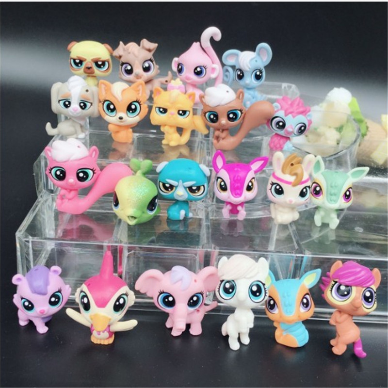 20Pcs/lot Animal Toy Little Pet Action Figures Toys Littlest Animal Shop Cute Cat Dog Patrulla Canina Action Figures Kids Toys