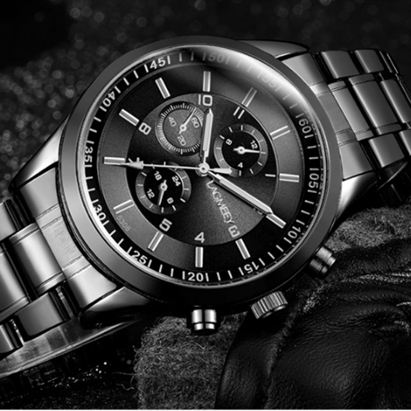 Men's Watch Luxury Stainless Steel Sport Watches Men Fashion Wrist Watch Men Watch Clock relogio masculino relojes para hombre relojes full stainless steel men s sprot watch black and white face vx42 movement