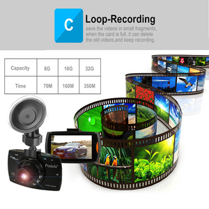 Image 3 - 2020 novo podofo g30 câmera do carro dvr completo hd 1080p 140 graus dashcam registradores de vídeo para carros visão noturna g sensor traço cam