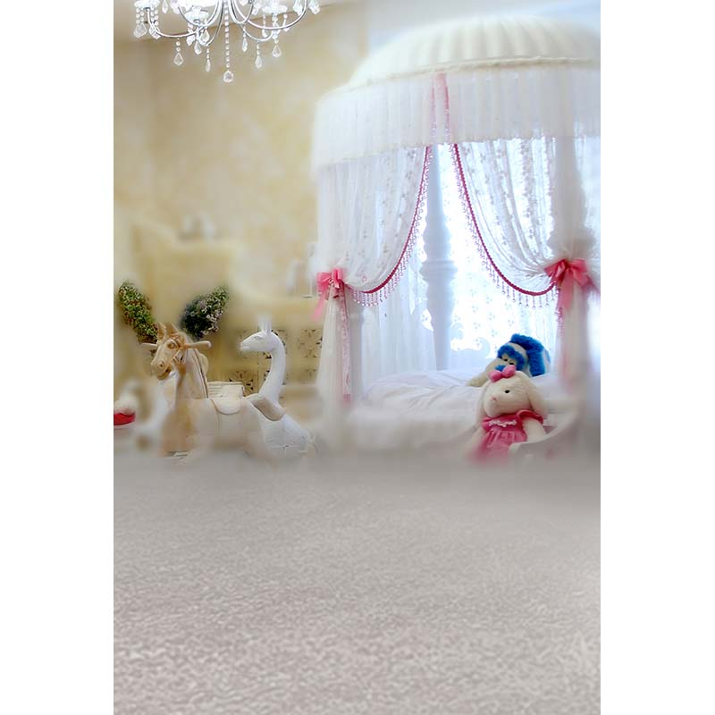 Vinyl photo backgroun princess bed photography backdrops for baby shooting photo studio photography background Camera fotografia