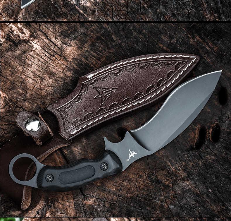 Voltron Outdoor Sharp Rechte Mes Speciale Battle Hoge Hardheid Mes Survival Wilde, carry-On Zelfverdediging Militaire Mes