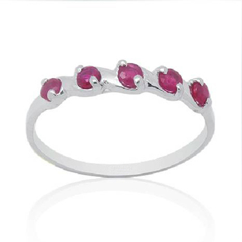 Anillos Qi Xuan_Red Stone Elegant Rings_Real Red  Rings_S925 Solid Sliver Fashion Red Rings_Manufacturer Directly Sales