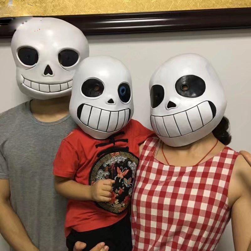 Game Undertale Mask Cosplay Kids Adlut Halloween Fancy Ball Sans Latex Helmet Props Toys