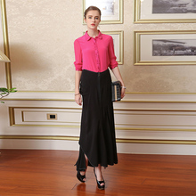 New Silk Solid Swallowtail Skirt
