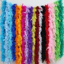 2 метра куриное перо полосы боа из пера индейки для свадьбы, дня рождения, вечеринки, свадебные украшения, аксессуары для одежды 1 шт