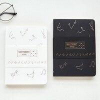 Twelve constellations series Notebook Hard copy Black white thickening Notepad Originality Organizer Blank Diary 128 sheets Gift Notebooks     -