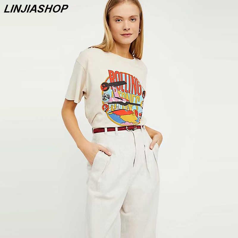 Rolling Stones Crop Top Vintage Look T-shirt