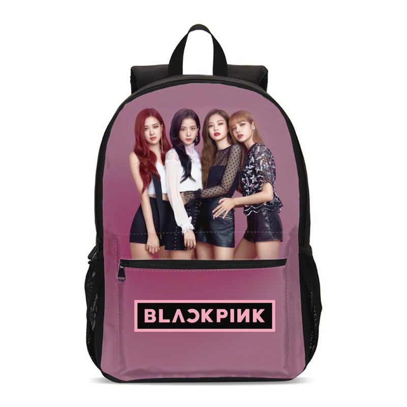 Sacs à dos pour garçons filles mode Blackpink lettre 3D impression Bookbag sac d'école sacs à dos d'ordinateur portable sac de voyage Mochila Escolar