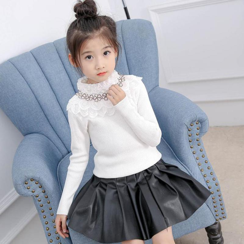 Winter 2018 Baby Girl Turtleneck Sweaters Casual Kids Cardigans Autumn Toddler Knitted Sweater Children Clothing Kids Clothes 12 new autumn winter baby boys girls kids children s warm turtleneck sweaters pullover cardigans top clothes outerwear ds29