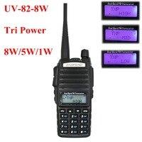 BAOFENG UV 82 8W Tri Power 136 174&400 520MHz dual band Handheld FM Transceiver UV82 Radio walkie talkie