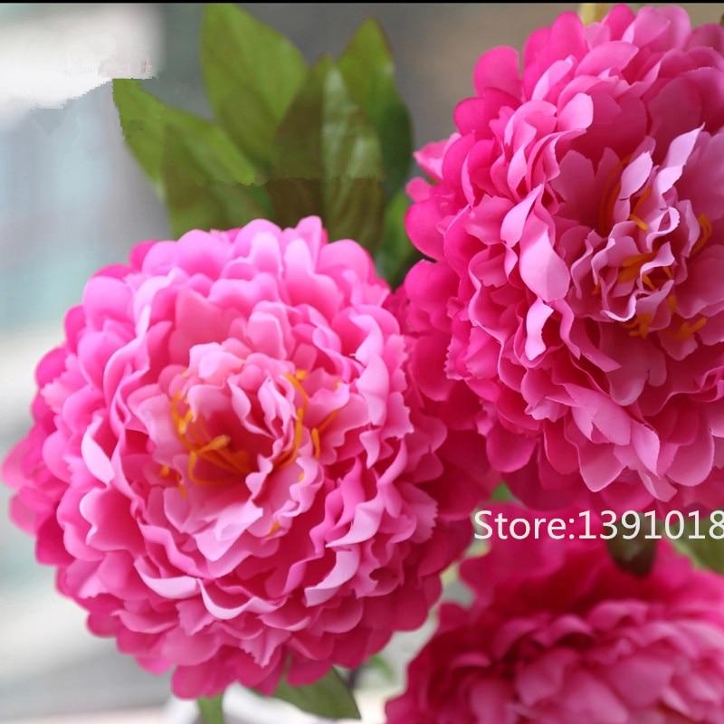 large silk flower 5 head peony flower bouquet artificial flowers fake flower home decoration