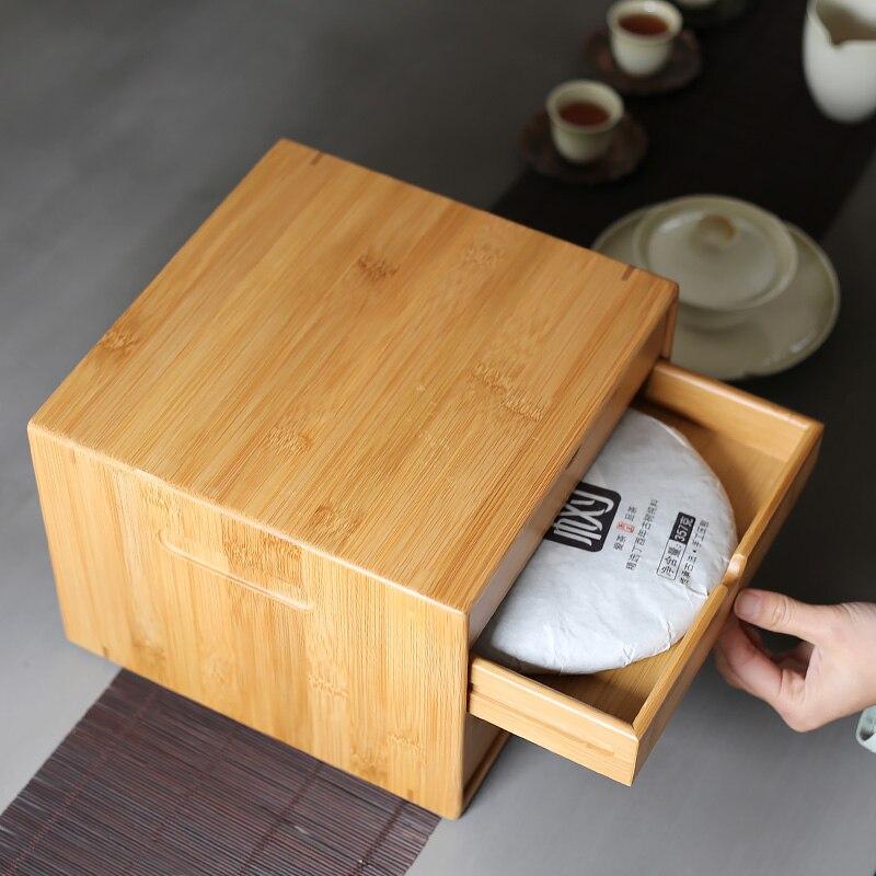 Traditional Chinese Natural Bamboo Pu-Erh Tea Box 1