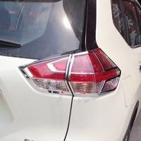 ABS cromado para Nissan x-trail T32 2014  accesorios  luz trasera de coche  cubierta embellecedora