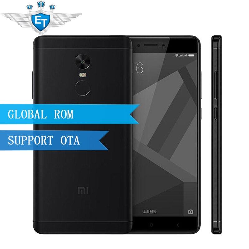 "Цена за Оригинал Xiaomi Редми Примечание 4X4X4 ГБ RAM 64 ГБ Глобальной ROM Смартфон MTK Helio X20 Дека Core 5.5 ""FHD 13.0MP Камера Отпечатков Пальцев"
