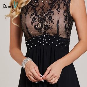 Image 4 - Dressv black evening dress cheap sleeveless a line scoop neck zipper up sleeveless wedding party formal evening dresses