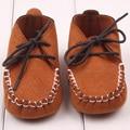 Zapatos suaves Del Bebé Recién Nacido Niño Niña Zapatos Del Pesebre Del Niño Lace Up Mocasines Pre Zapatos del caminante