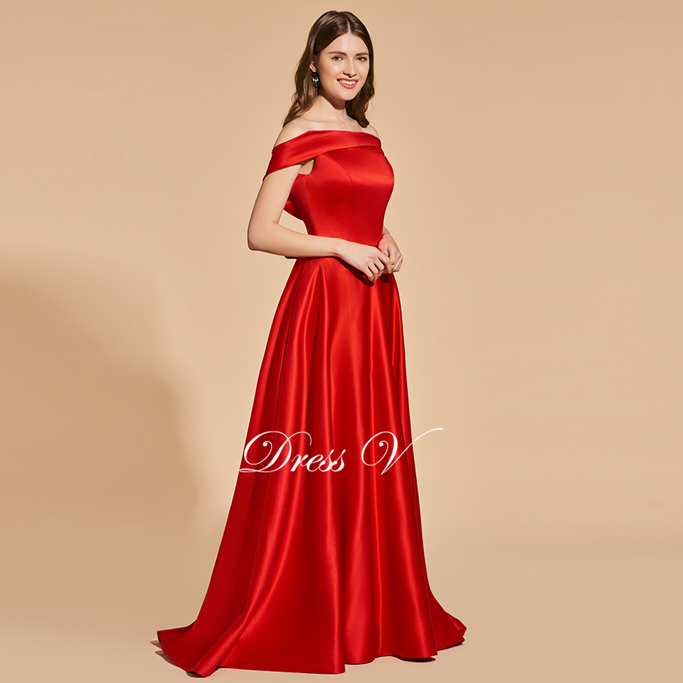 3f2e17f271c2c Dressv elegant red long prom dress off the shoulder empire waist backless  simple a line lace evening party gown prom dresses-in Prom Dresses from ...