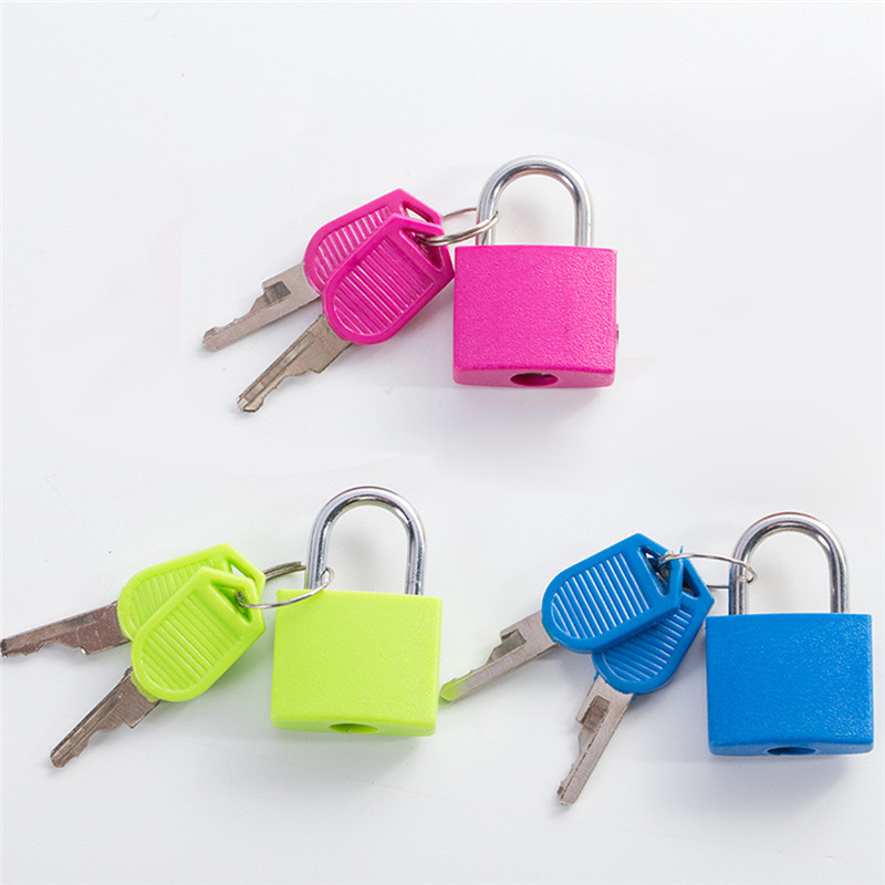 1pc Mini Locks Materiel Montessori Educational Toys For Children Cute Plastic Metal Lock Baby Kids Colors Learning Toy