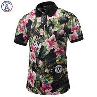 Mr 1991INC Harajuku Stylish Polo Shirts Men Summer Tops Print Brautiful Flowers Graphic 3d Polo Shirts