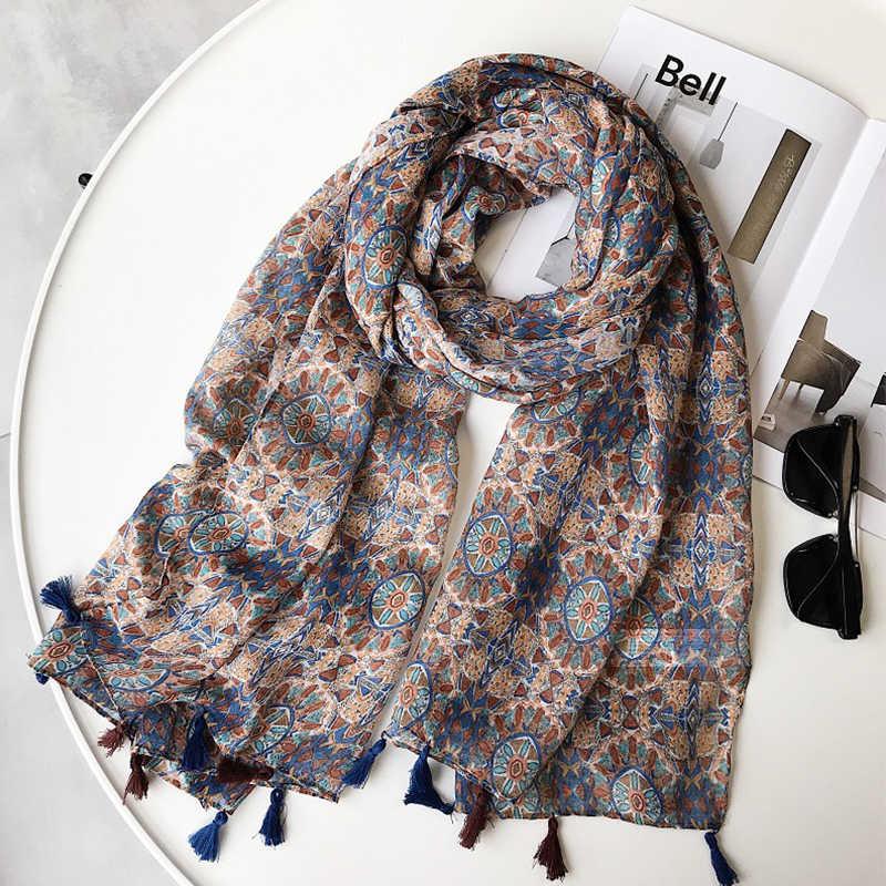 Lady Womens Hijab Sunscreen Shawl Stole Long Large Scarf Soft Warm Cotton Wrap