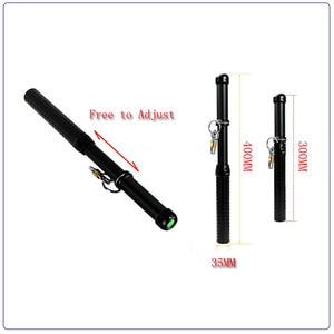 Image 4 - Police Flashlight CREE Q5 2000LM Baton Tactical Led Flashlight Long Mace Lamp Torch 3 Modes Self Defense By 18650