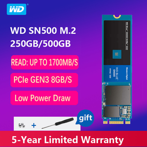 WD Blue M.2 2280 250GB 500G SSD SN500 NVME Internal Solid State Drive Disk SATA 3.0 8Gb/s 2.5