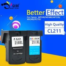 PG 210 CL 211 PG210 CL211 210XL 211XL Ink Cartridge For Canon Pixma IP2702 MP240 MP250 MP270 MP480 MP490 MX320 MX340 Printer