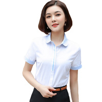 2018 Fashion Fund Occupation Short Shirt Half Sleeve Powder Work Clothes Hidden Discount Defence Wardrobe