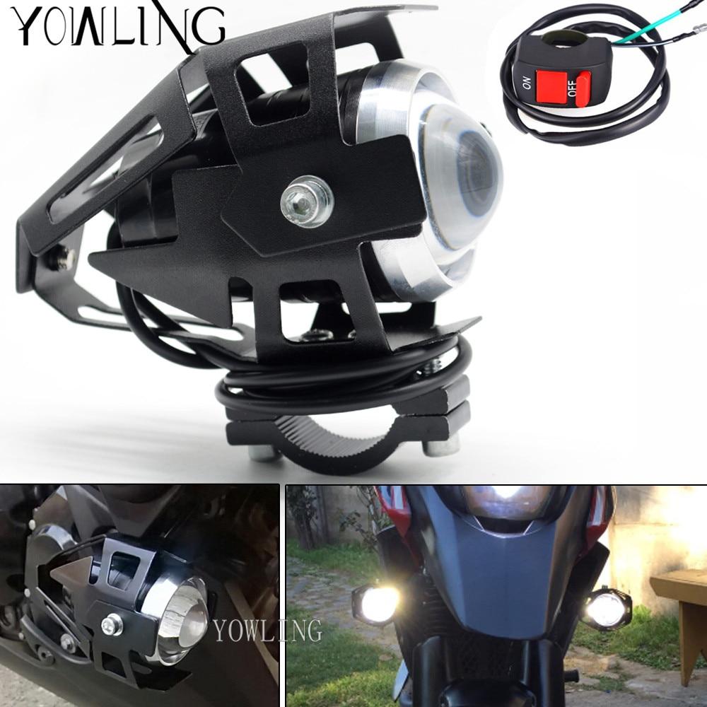 Hot Sale 2pcs 125w 3000lmw Led Chips U5 Waterproof Motorcycle Cbr Headlight T Shirt Motorbike Driving Fog Spot Head Light Lamp Switch