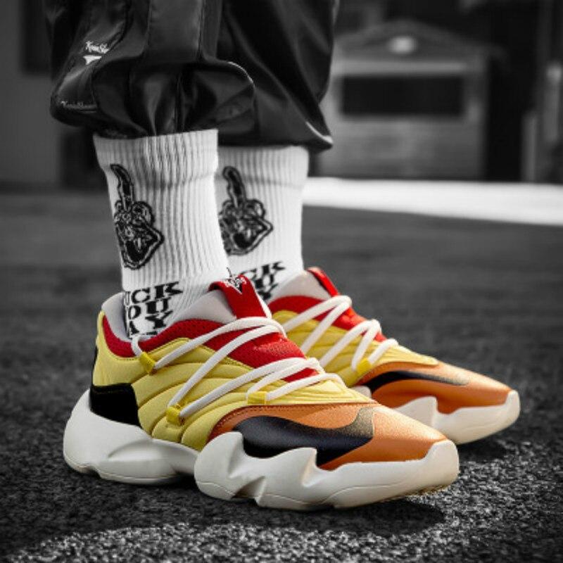 Léger respirant vintage papa hommes baskets danse hommes chaussures décontractées 2019 kanye west hip hop hommes baskets zapatos hombre