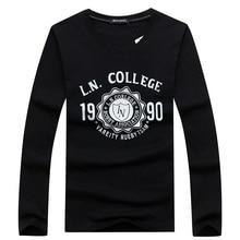 Hot 2017 New Fashion Brand T Shirt Men High Quality Cotton Long Sleeve T-shirt O-Neck 1990 Printed Hip Hop T Shirt Men Hot Sale