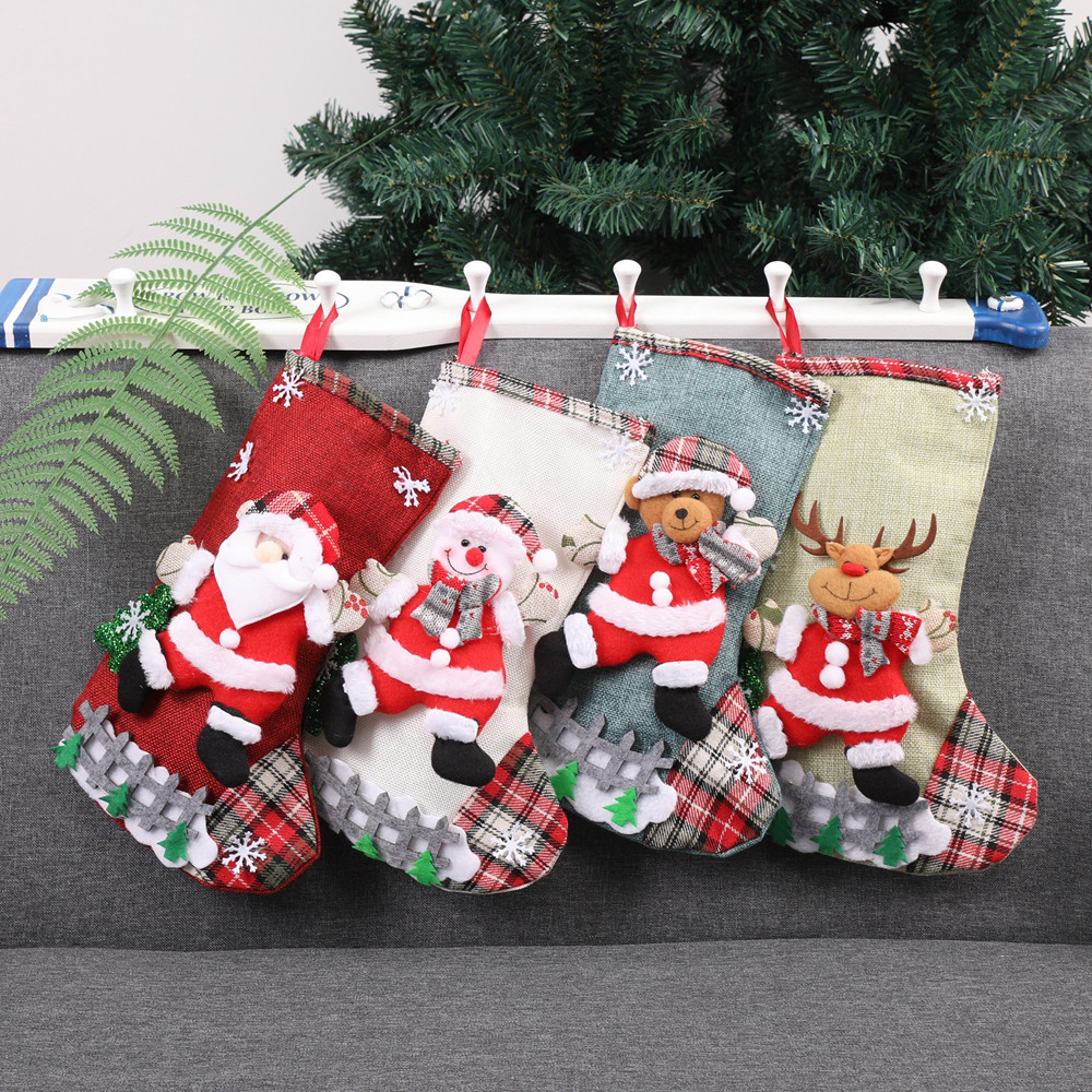 Christmas Xmas Tree Hanging Party Tree Decor Santa Stocking Sock Gift Candy Bags Stockings Gift Holders Aliexpress