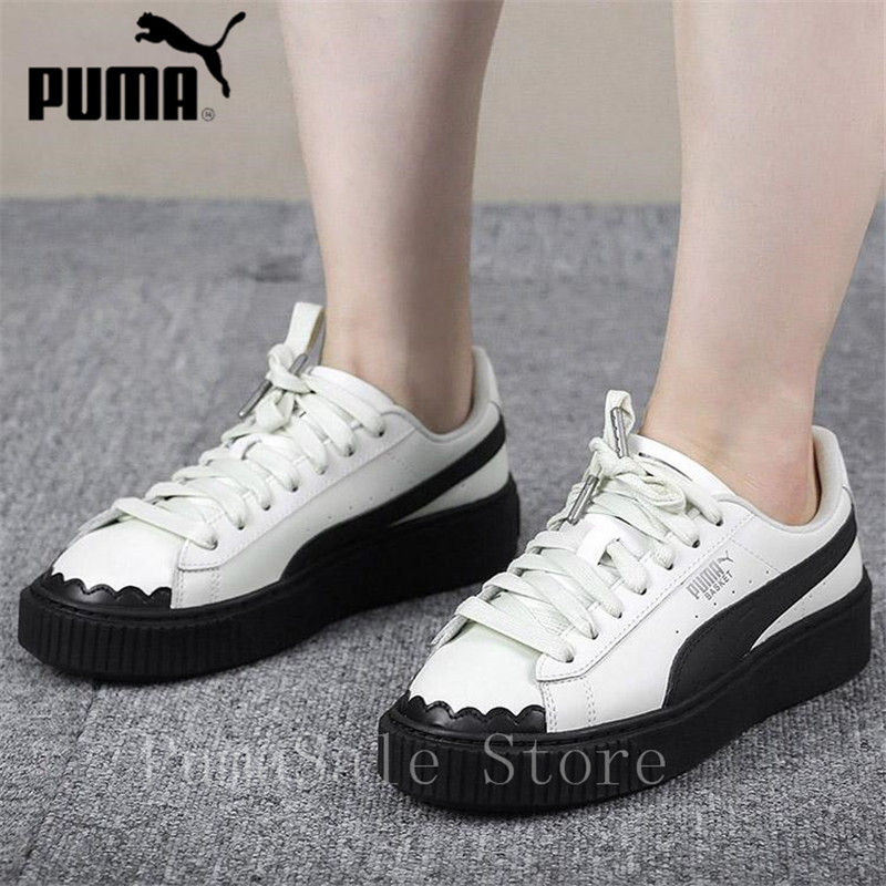 PUMA Basket Platform Scallop Women s Sneakers Autumn Sports Shoes Wear  Breathable Non-slip Thick Bottom Rihanna Shoes 35.5-40 7fb81eebc