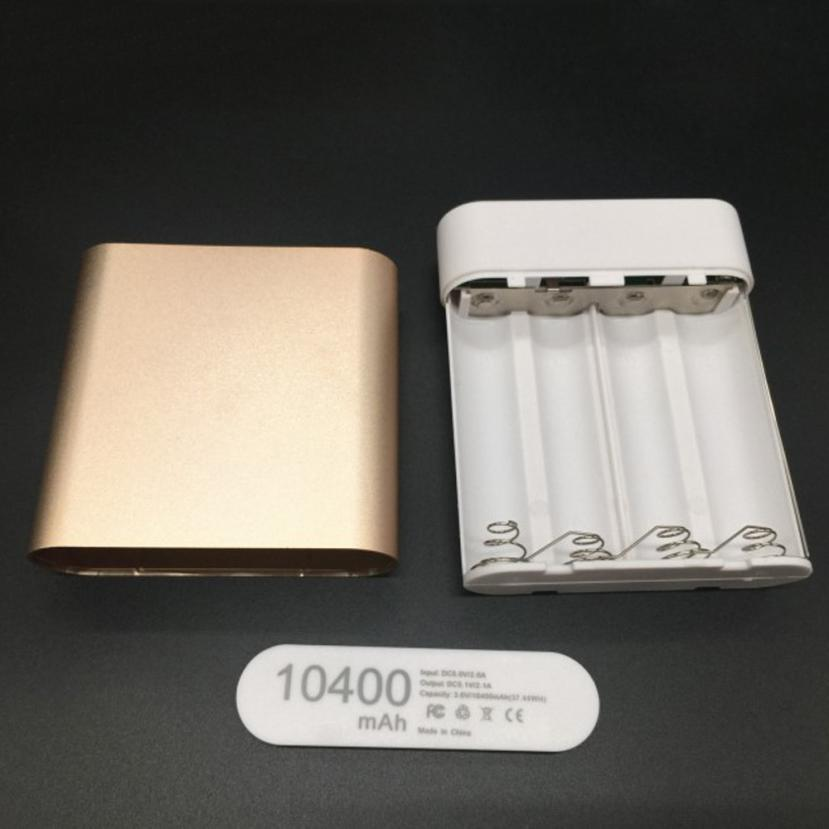 HIPERDEAL DIY 4*18650 Battery Power Bank Charger Box For iPhone Smartphone Rechargeable Battery Power Wall Adapter 1Sp8