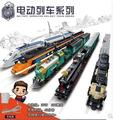 New Creator KAIZI City Electric train building blocks Set High-speed rail Toy bricks steam train Maersk 98101 transport gift boy