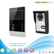 economic nice design two way Door phone Camera Intercom Doorbell System Video Door Monitor 1 to 1 home security kit