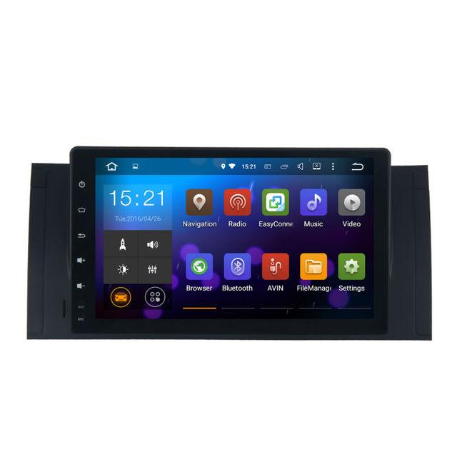 9'Android 5.1 GPS Rádio estéreo Do Carro para BMW E39 E53 X5 1024*600 Unidade de Cabeça Tela de Toque do Bluetooth GPS AM/FM RDS de Rádio WI-FI BT