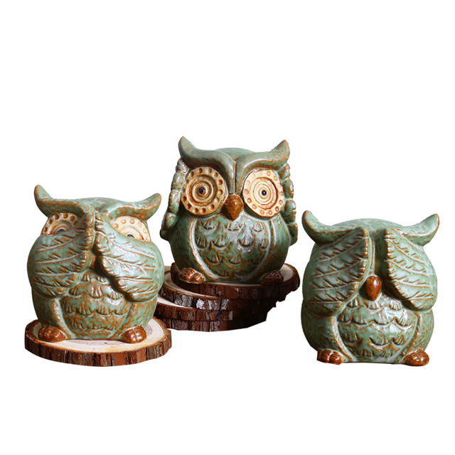 Home Decor Cute Ceramic Owl Home Decoration Animal Ornaments Owl
