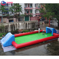 Inflatable Soccer court arena for outdoor team sport game wholesale price giant inflatable football pitch for children