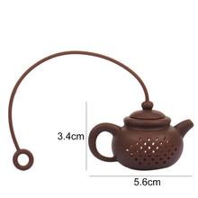 Creative Silicone Tea Bag Tea Pot Shape Tea Filter
