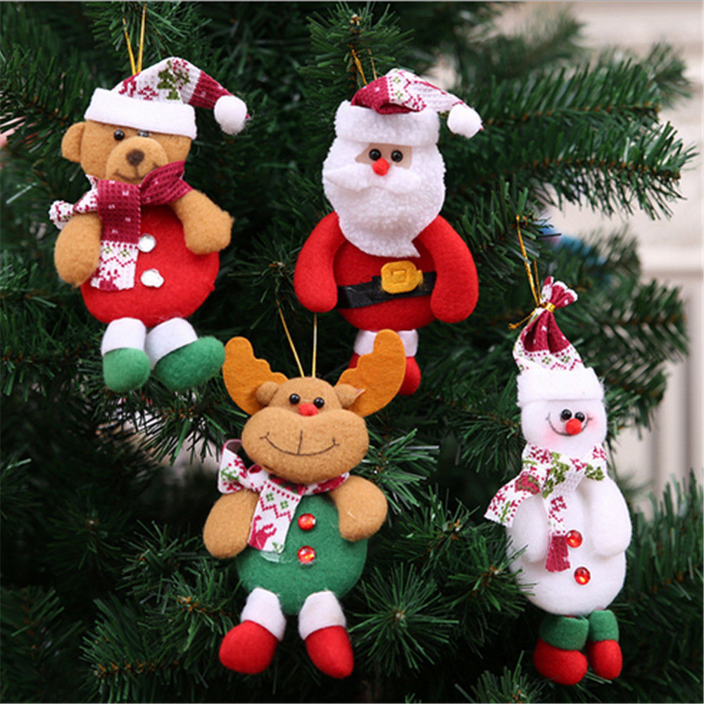 1PC Xmas Gifts Christmas Tree Hanging Ornaments Santa Claus Pendants Drop Decorations for Home Length 17cm ...