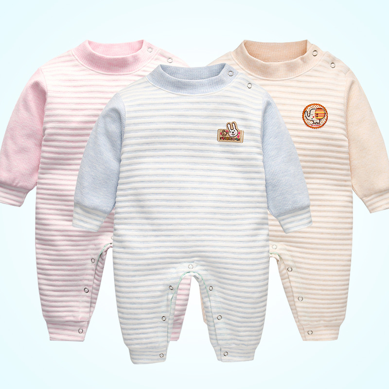 New Arrival Spring Autumn Newborn Baby Boy Clothes Long Sleeve Baby Girl Romper Cotton Infant Baby Rompers Jumpsuits StandCollar newborn baby boy rompers autumn winter rabbit long sleeve boy clothes jumpsuits baby girl romper toddler overalls clothing