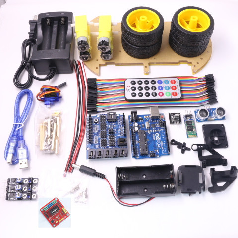 Автомобиль - ардуино, KIT комплект Bluetooth.