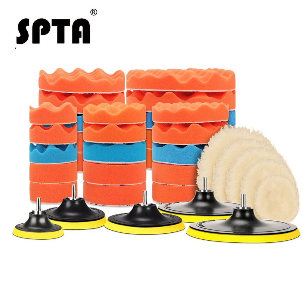 spta-3-4-5-6-7-buffing-pad-auto-car-polishing-pad-kit-buffer-drill-adapter-m14-for-car-polisher-electric-drill-pack