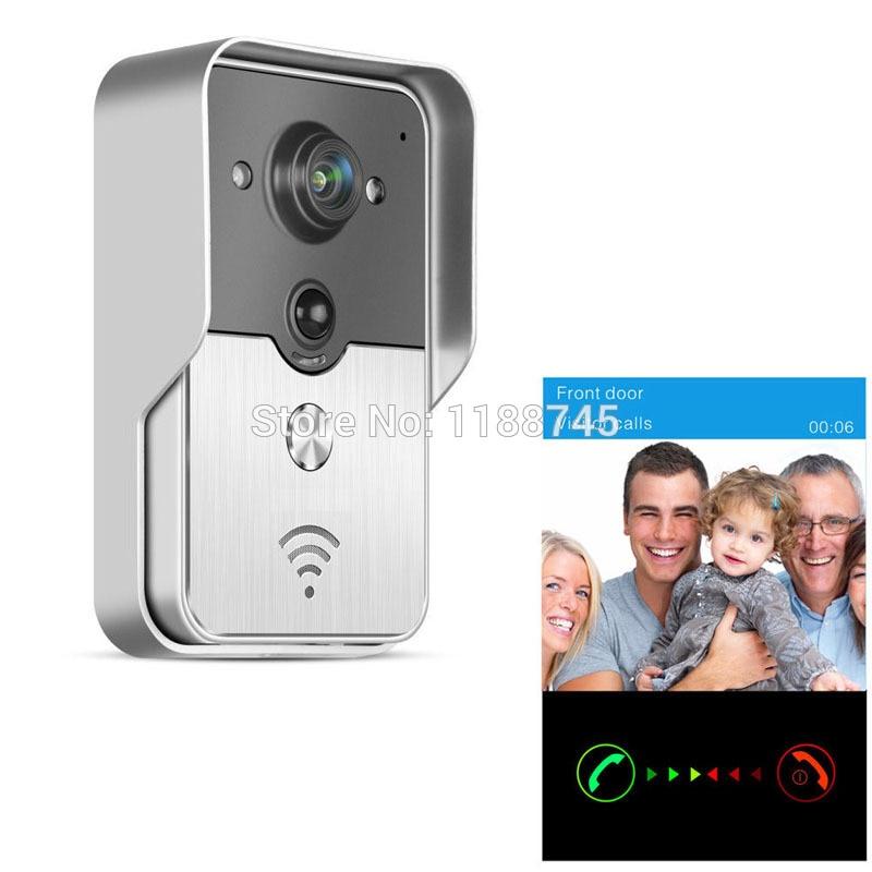 2017 Popular WiFi Wireless Video Door Phone intercom Doorbell PIR IR Night Vision Alarm Android IOS Smart Home
